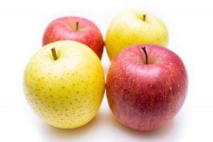 青りんごと赤いりんご