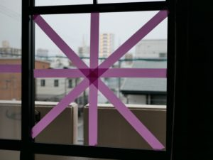 窓ガラス飛散防止テープ