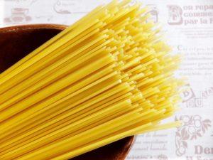 スパゲティゆでると茹で上がり重量は?