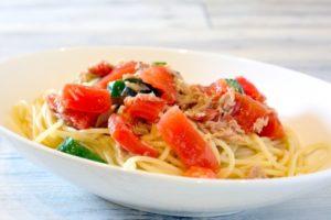 トマトときゅうりの冷製スパゲティ