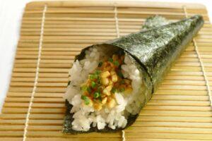 手巻き酢納豆寿司